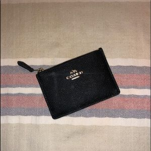 Never Used Black Coach Key and Card Holder